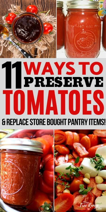 11 Ways to Preserve Tomatoes and replace common storebought items