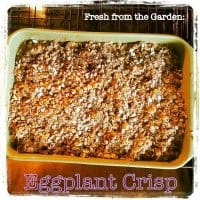 Sweet Eggplant Crisp