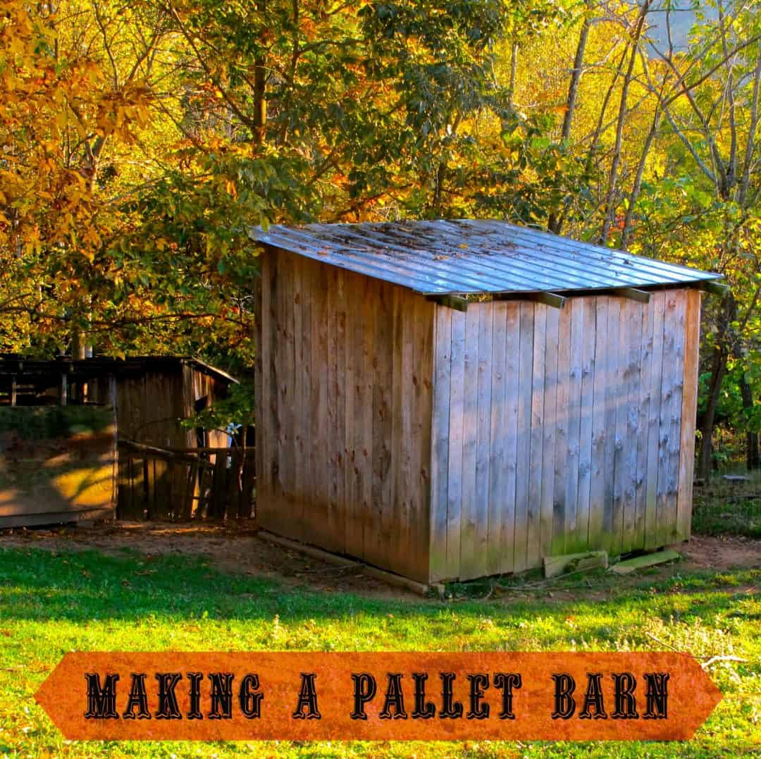 How to make a pallet barn the free range life for How to build horse barn