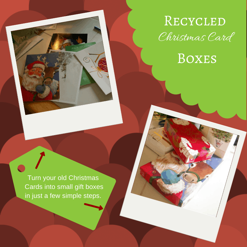 Recycled Christmas Card Boxes