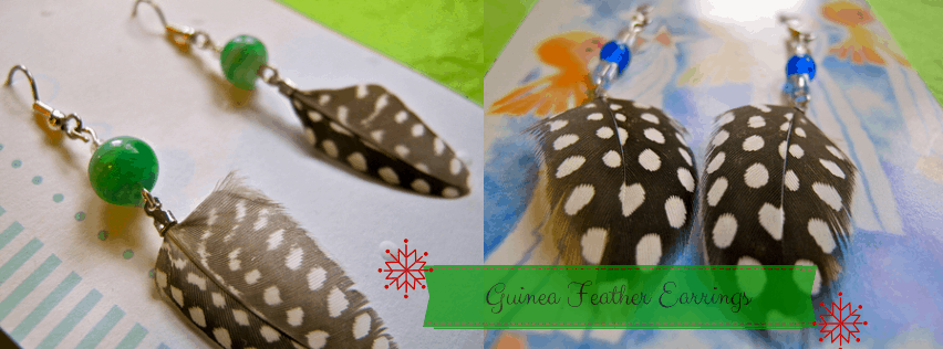 DIY Earrings: Learn how to make beautiful guinea feather earrings! Makes the perfect homemade gift!