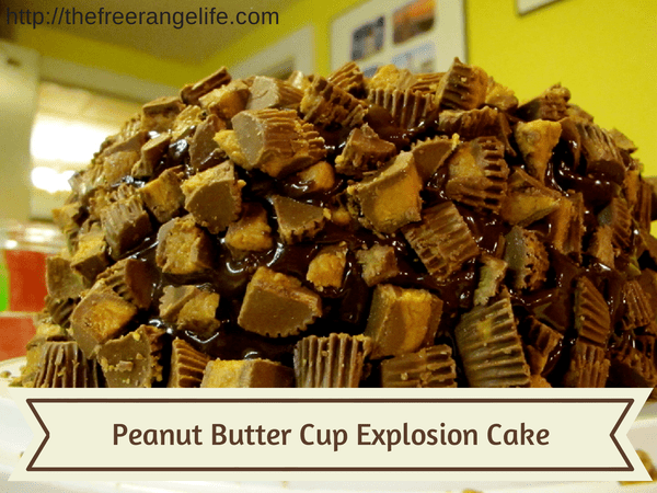 Peanut Butter Cup Explosion Cake