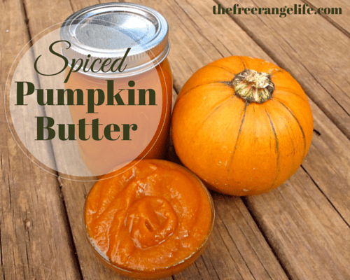 Homemade Spiced Pumpkin Butter - The Free Range Life