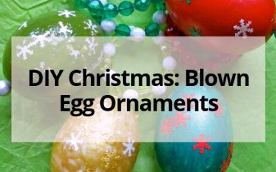 DIY Christmas: Blown Egg Ornaments