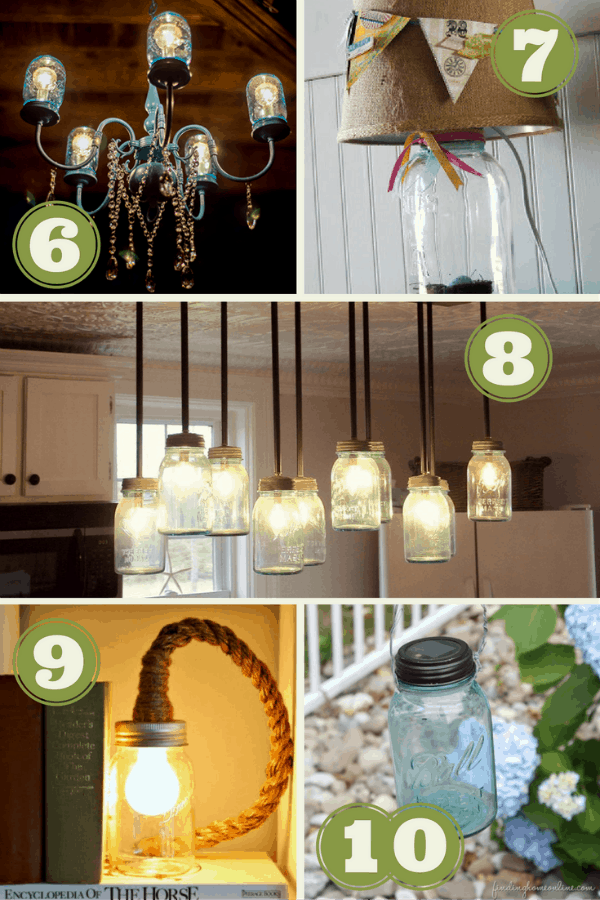 I love Mason jars! Check out these cool DIY Mason Jar Light Fixtures!