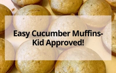 Easy Cucumber Muffins- Kid Approved!