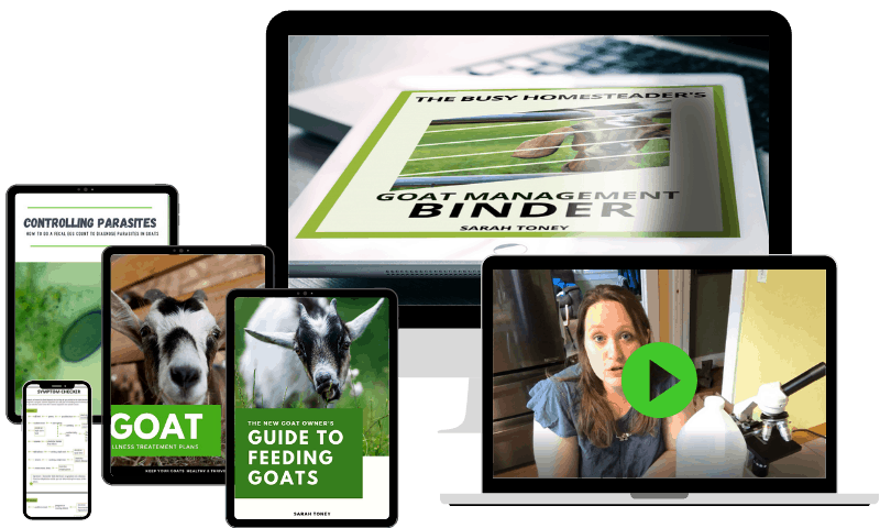 learn to raise goats tools- bundle of goat books for sale in with the goat management binder