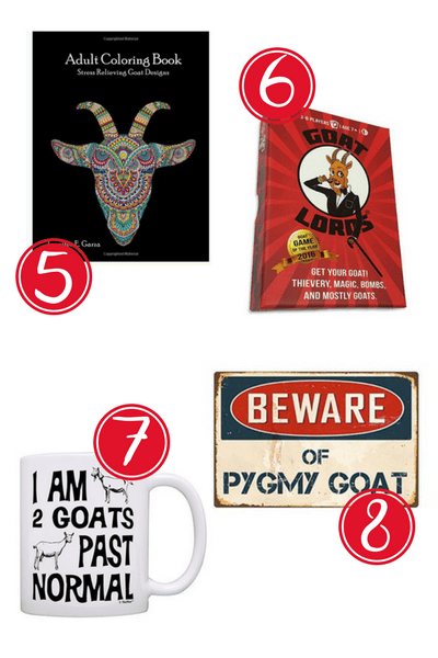 Need gift ideas for Goat Lovers? Here are 12 super cute gift ideas the crazy goat lady in your life is sure to love! Great gifts for any occassion