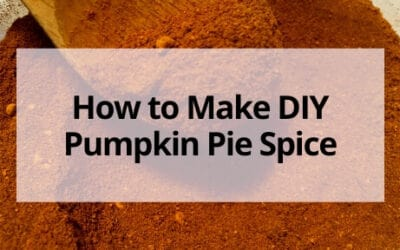 How to Make DIY Pumpkin Pie Spice