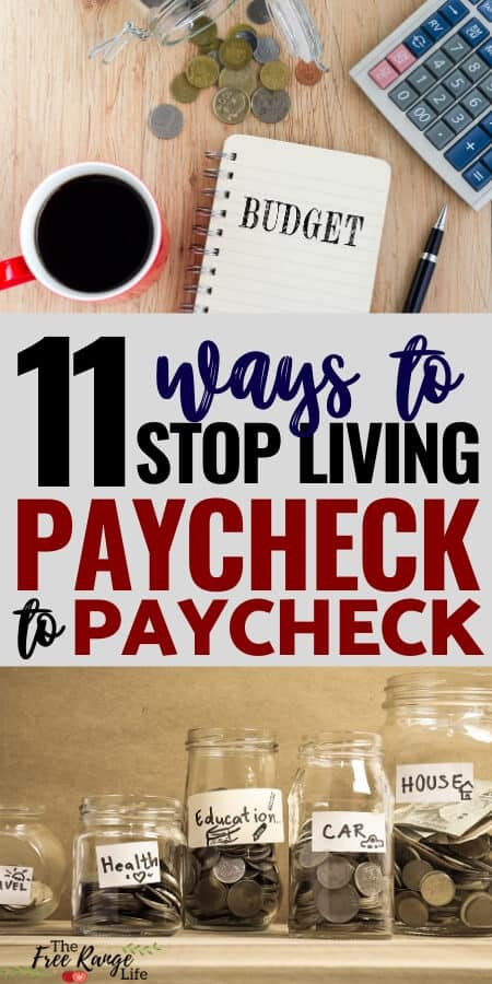 Are you ready to stop being broke? Learn these 11 ways to break the cycle, get our of debt, and finally stop living paycheck to paycheck! | Get out of Debt | Frugal Living | Family Finances