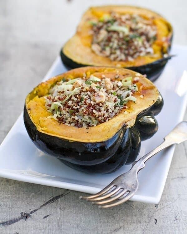 Quinoa Stuffed Acorn Squash – A Couple Cooks