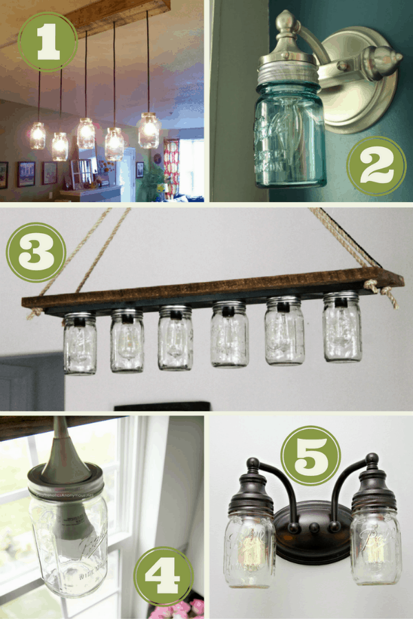I love Mason jars! Check out these cool DIY Mason Jar Light Projects!