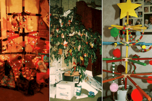 frugal christmas tree ideas