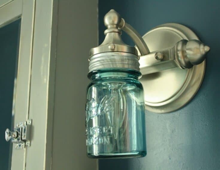 DIY Mason Jar Light (for the Bathroom!)