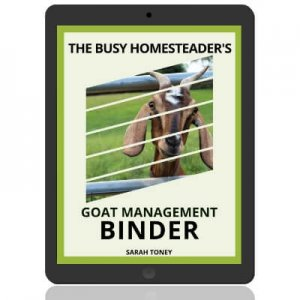 goat binder cover