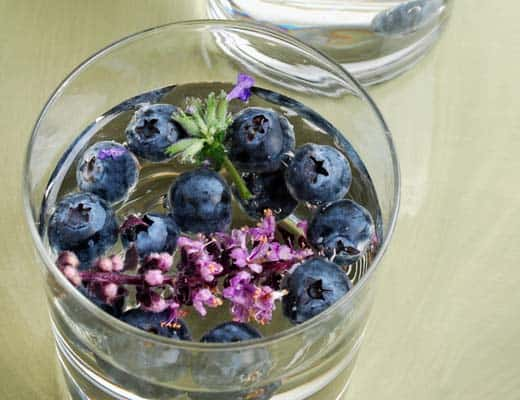 Blueberry Lavender Infused Water
