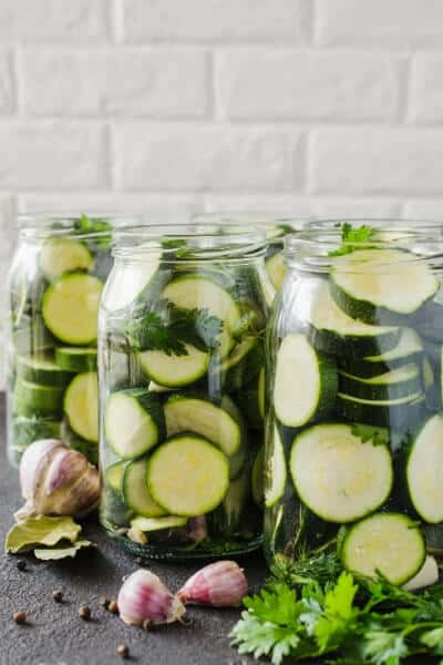 3 jars of zucchini summer squash ready to can