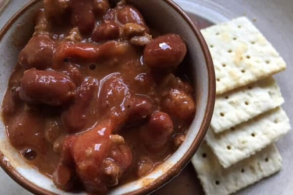 instant pot chili for frugal meal