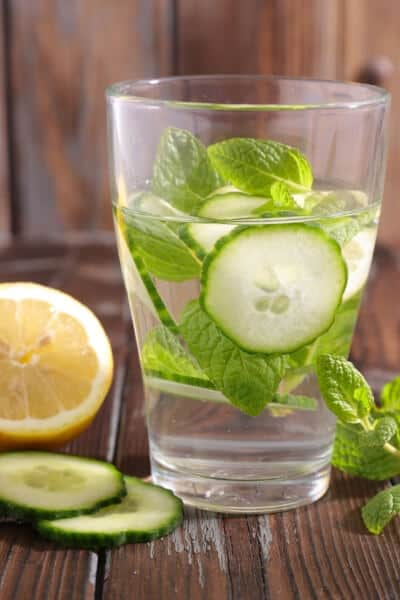 cucumber infused water recipes- cucumber mint