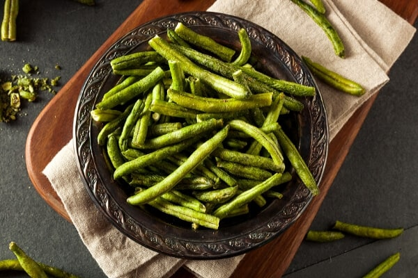 bowl of dried green beans