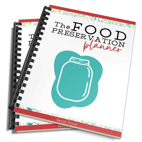 food preservation planner mockup spiral bound book