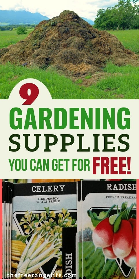 Gardening for Beginners: Vegetable Gardening doesn't have to be expensive. Here are 9 gardening supplies that are totally free!