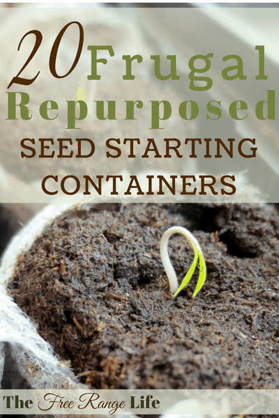 You don't have to spend money on seed starting containers to grow from seed! Here are 20 frugal and repurposed seed starting containers for you to try!