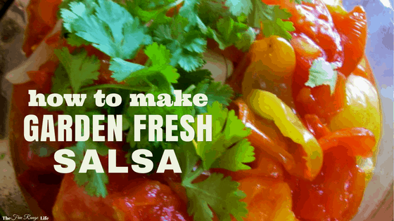 how to make garden fresh salsa from your homegrown tomatoes, peppers, and onions!