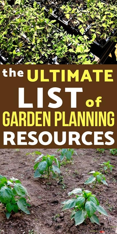 the ultimate list of garden planning resources