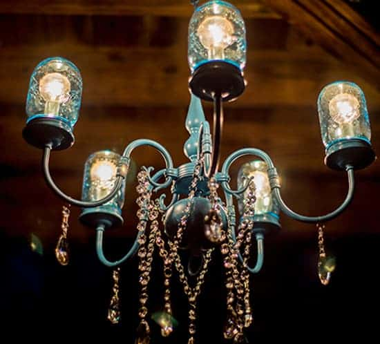 DIY Mason Jar Light Chandelier