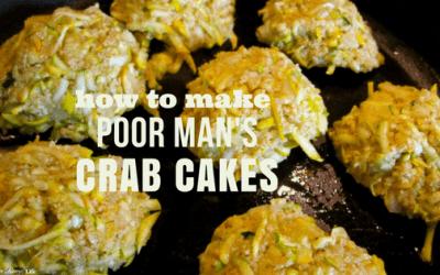 {Zucchini} Poorman's Crab Cakes