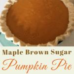 Maple Brown Sugar Pumpkin Pie