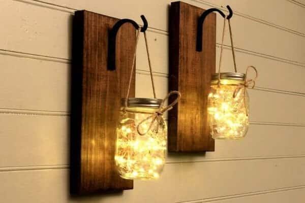 DIY Mason Jar Sconce Decor Lights