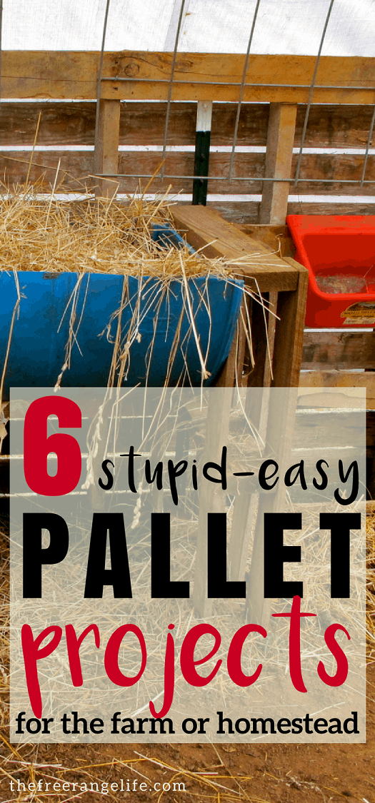 Easy Pallet Projects: 6 incredibly easy pallet projects for your homestead. Most can be completed in an hour- or even minutes!