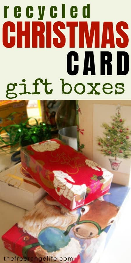 Recycled Crafts: Learn how to make tiny boxes out of recycled Christmas cards!