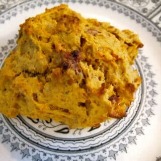 sweet potato date scone on plate