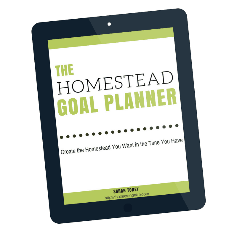 The Homestead Goal Planner will help you prioritize your life and your homestead goals so that you can make steady progress toward creating the homestead you've always dreamed of!