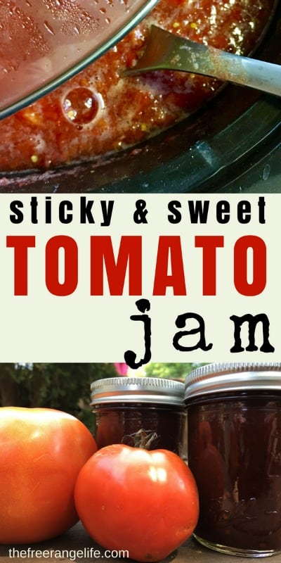 Tired or sauce and salsa? Try out this sticky and sweet Tomato Jam! It's sure to be a new favorite to add to your home canned pantry!